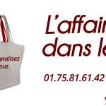 Achat en ligne de sac bio pour publicité d'entreprise